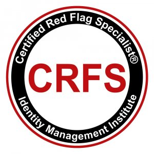 Certified Red Flag Specialist (CRFS) workplace identity theft prevention certification.